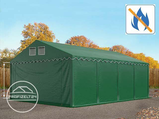 Lagerzelt 4x10m zelthalle weidezelt Abri avec sol cadre PVC Tente Blanc