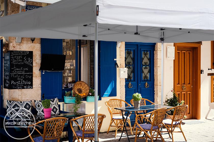Stabiler Faltpavillon 4x4 m als ideale Gastronomie-Überdachung