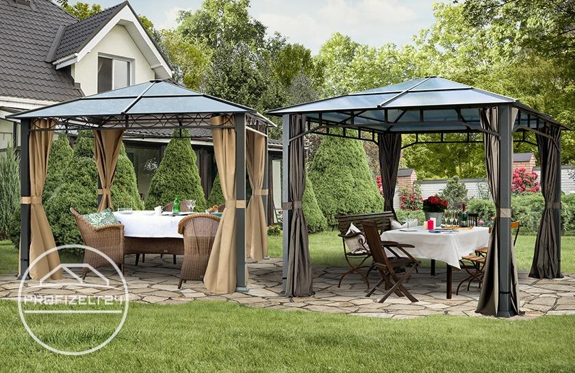 Hochwertige Pavillons mit festem Dach