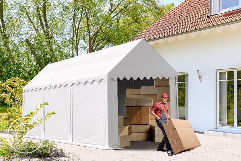 Wetterfeste Lagerzelte 3x6 m als unkomplizierte Möbellager bei der Hausrenovierung