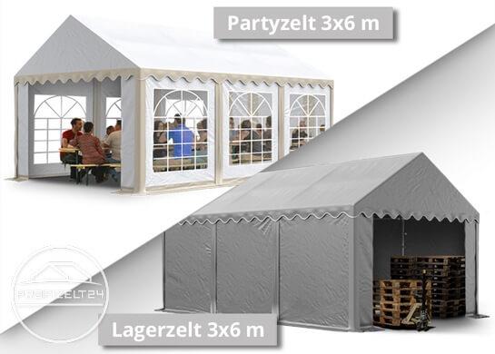 Blickdichte Lagerzelte 3x6 m bestehen im Gegensatz zu Partyzelten aus einer durchgehenden Plane