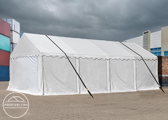 Das Lagerzelt 4x6 m mithilfe einer Sturmsicherung stets standsicher machen