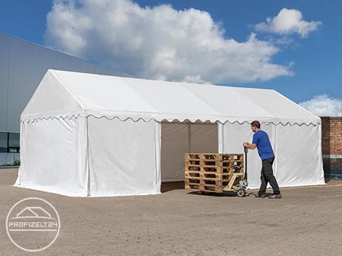 Stabile Lagerzelte 4x6 m in der Qualität Economy für die temporäre Nutzung