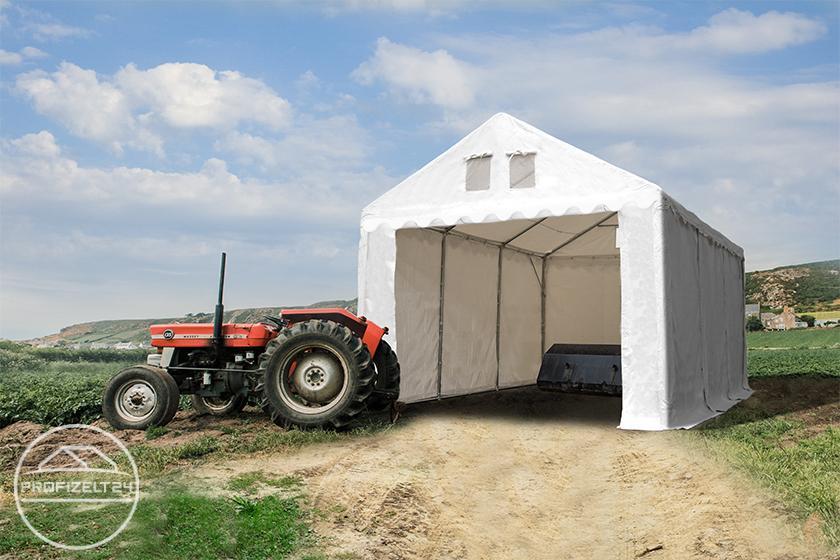 Wetterfeste Lagerzelte 4x6 m als perfekte Industriezelte in der Landwirtschaft