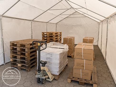 Wasserdichte Lagerzelte 4x6 m in den Qualitäten Premium und Professional für den ganzjährigen Einsatz