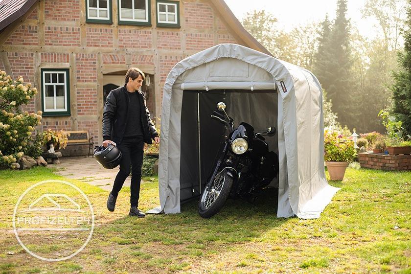Stabile Zeltgaragen als wettergeschütze Motorradgaragen
